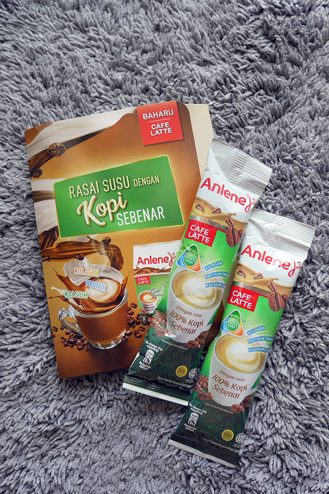 Anlene Cafe Latte samples