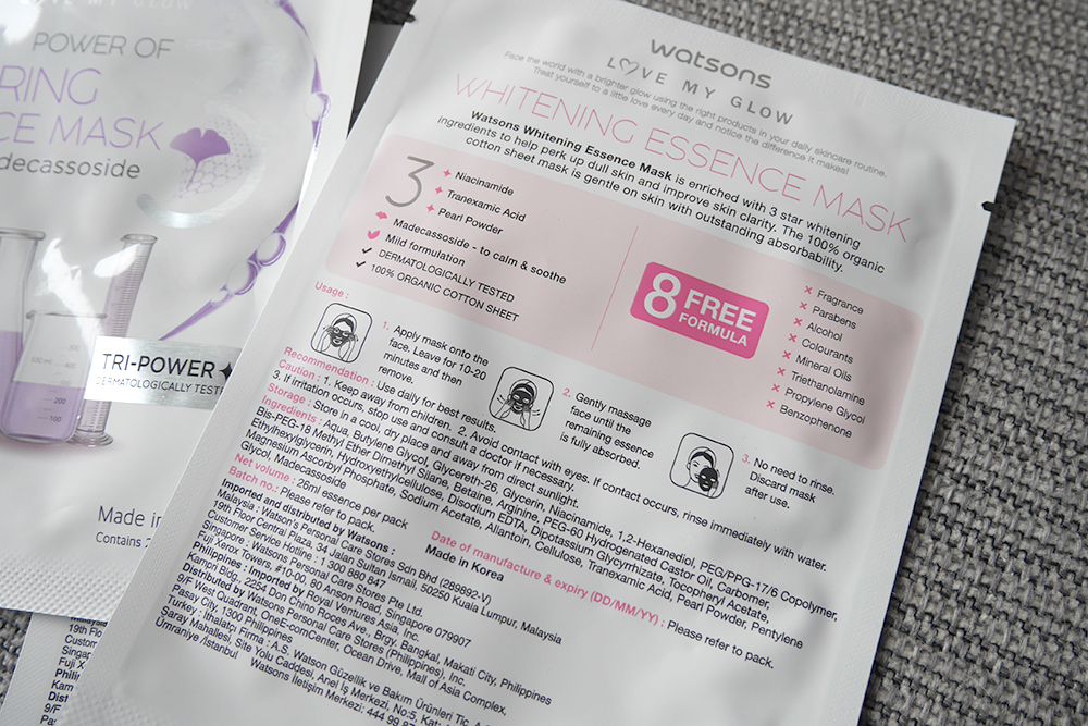 WATSONS Whitening Essence Facial Mask